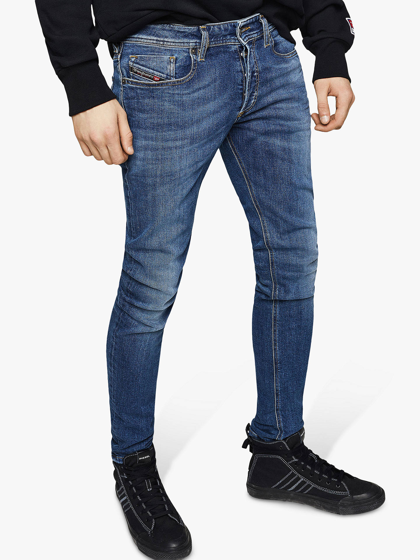 huge discount 6fdc8 e9e35 Diesel Sleenker Skinny Jeans, Medium Blue 069FZ