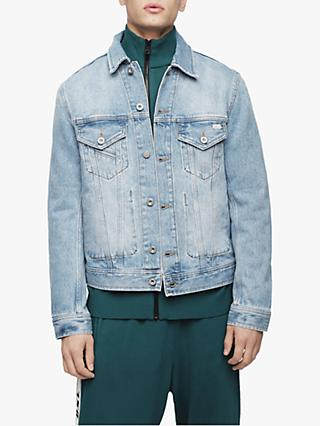 Diesel D-Bray Denim Bomber Jacket, Bleach Wash