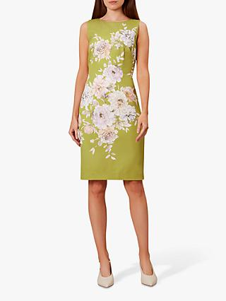 Hobbs Moira Dress, Chartreuse/Multi