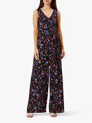 Hobbs Laura Floral Jumpsuit, Navy/Multi
