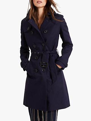 Phase Eight Tabitha Trench Coat, Navy