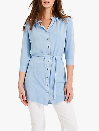 Phase Eight Rebecca Frill Tunic Top, Chambray