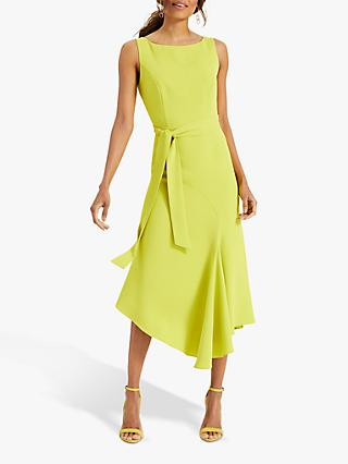 Phase Eight Tamara Asymmetric Hem Dress, Lime