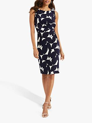 Phase Eight Giselle Dress, Navy/Ivory
