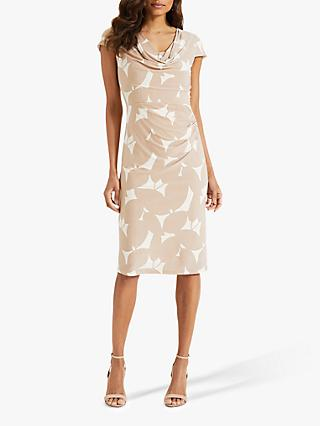 Phase Eight Lindsay Cowl Dress, Cream