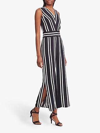 Lauren Ralph Lauren Stripe Jumpsuit, Polo Black/Mascarpone Cream
