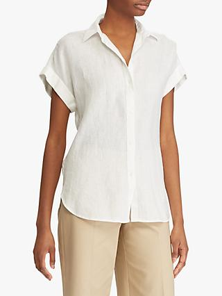 Lauren Ralph Lauren Broono Short Sleeve Linen Shirt