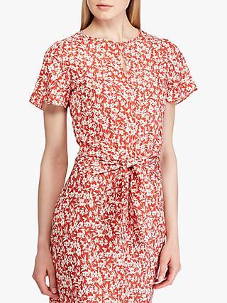 4d57a55441df Lauren Ralph Lauren Vantrice Floral Dress, Red/Mascarpone Cream