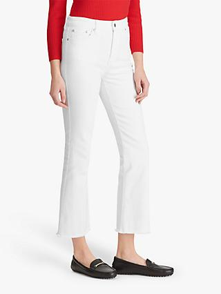 Lauren Ralph Lauren Regal Straight Cropped Jeans, White Wash
