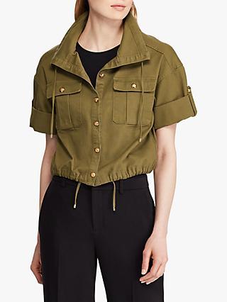 2dc5429e31b3 Lauren Ralph Lauren Vondra Drawcord Jacket, Explorer Olive