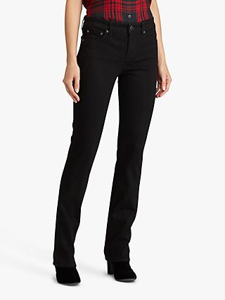 Lauren Ralph Lauren Premier Slim Straight Leg Jeans, Perfect Black Wash