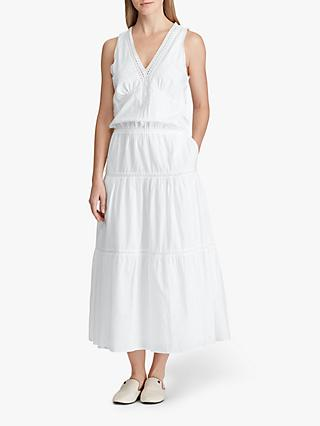 dd3aa91f272e6 Lauren Ralph Lauren Umay Lace Trim Dress, White