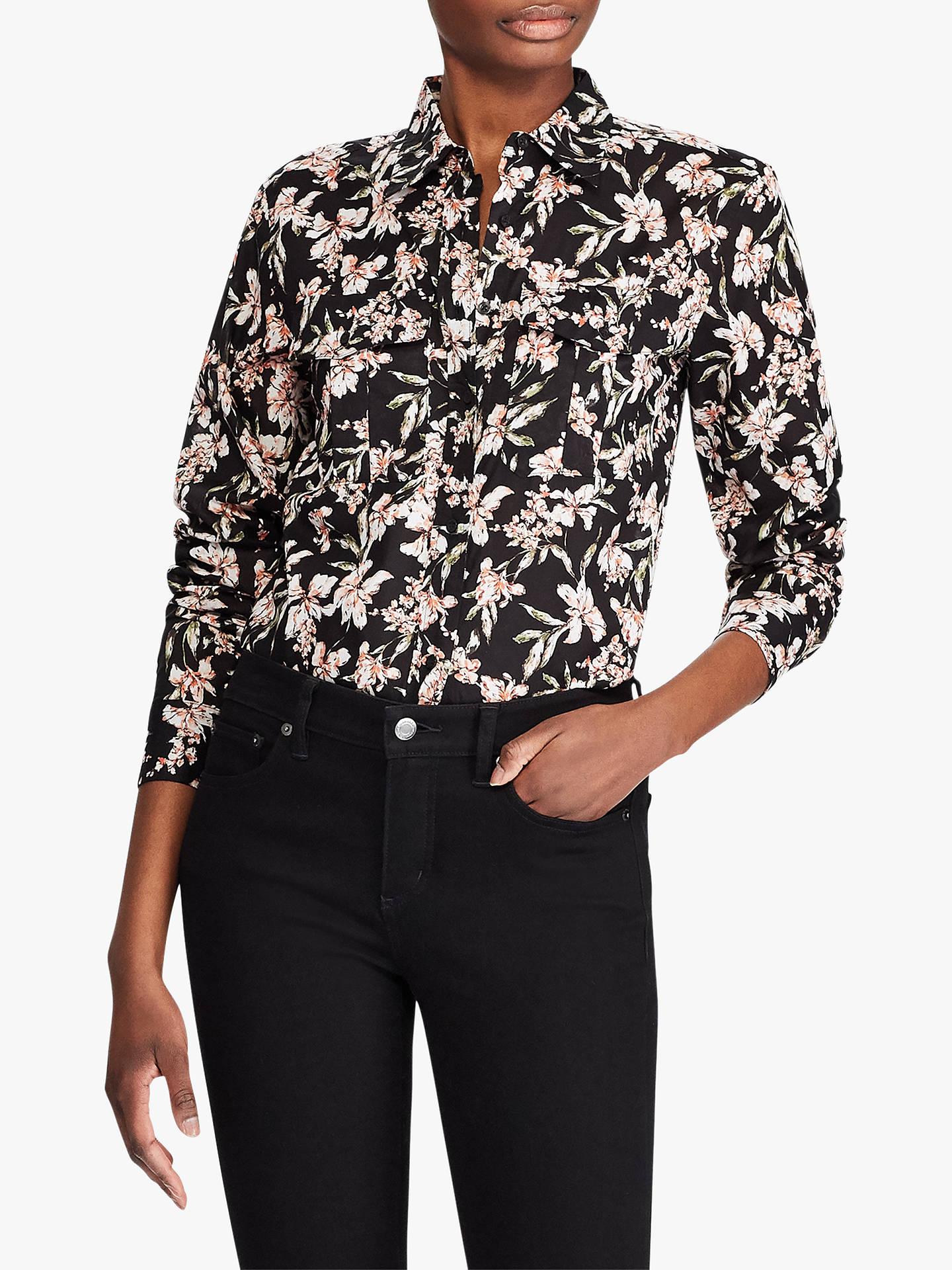 d9992526679 Lauren Ralph Lauren Courtenay Floral Print Shirt, Polo Black
