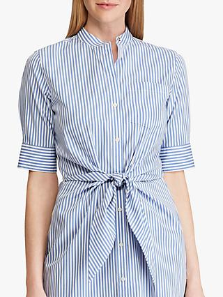 Lauren Ralph Lauren Wilda Striped Shirt Dress, Blue/White