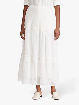94de2ace1a Lauren Ralph Lauren Alixander Peasant Skirt, White