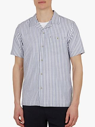 cb5804bc2 Ted Baker Long Revere Collar Striped Short Sleeve Shirt