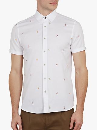 50b625b20ff00f Ted Baker Monkie Print Short Sleeve Shirt