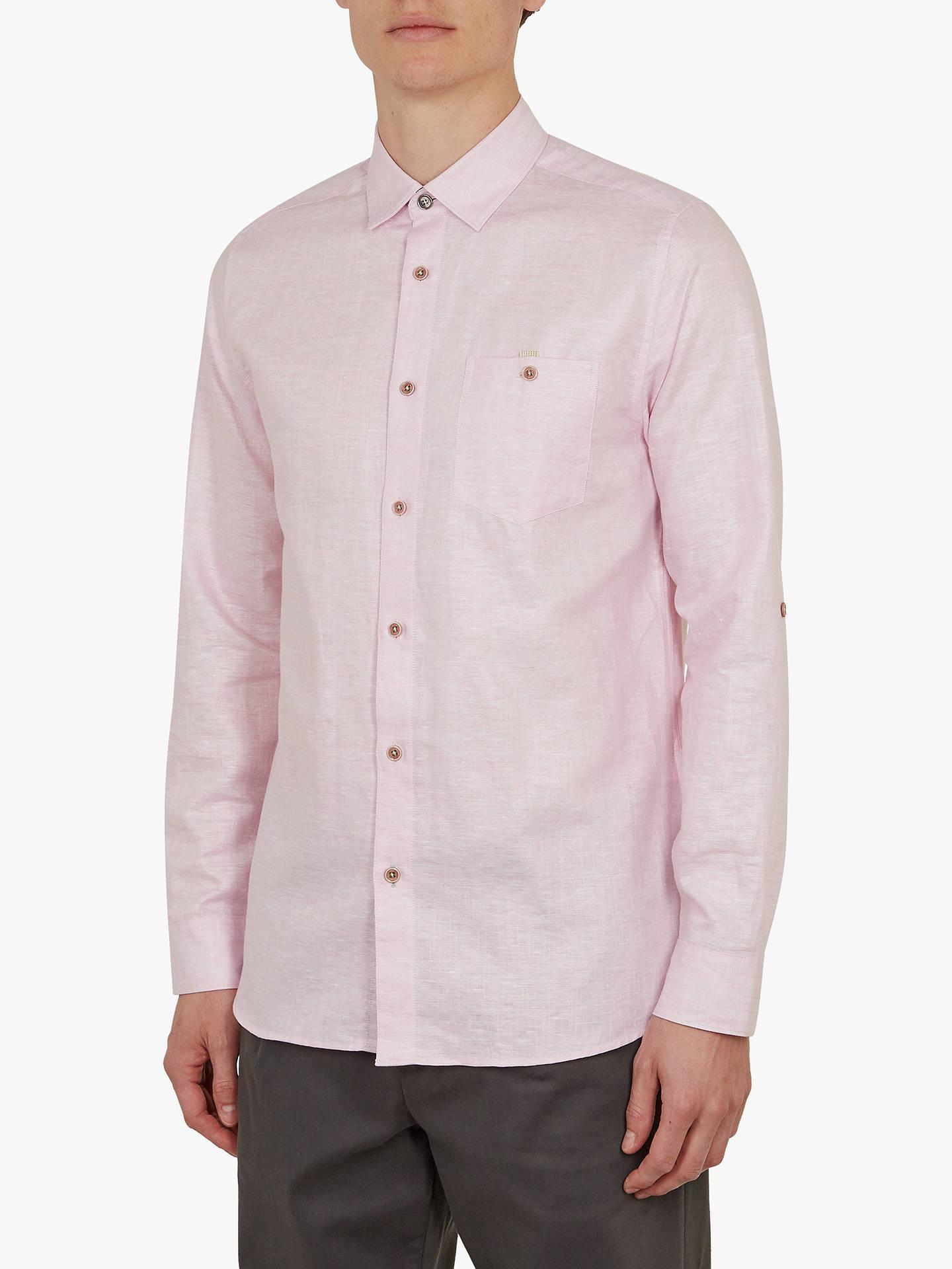 d7cf18905 Buy Ted Baker Elated Linen Blend Shirt