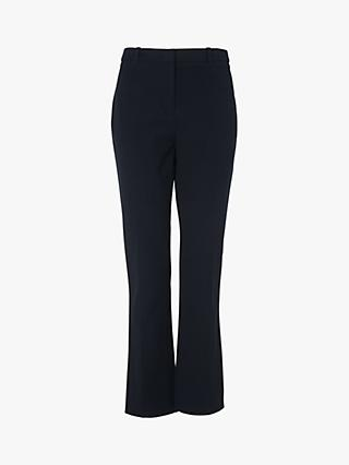 L.K.Bennett Lily Flat Trousers, Blue Midnight