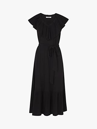 L.K.Bennett Margret Cotton Linen Dress, Black