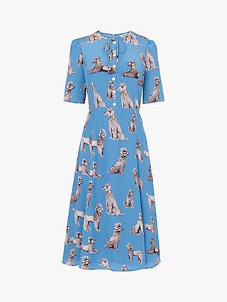 5e8d7f4cb1 L.K.Bennett Crawford Dog Print Silk Dress