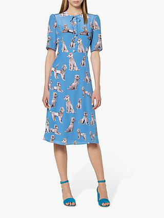 L.K.Bennett Crawford Dog Print Silk Dress