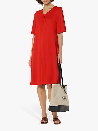 L.K.Bennett Twist Neck Dress, Red