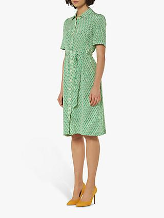 L.K.Bennett Irenie Belted Silk Shirt Dress