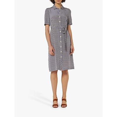 L.K.Bennett Irenie Belted Silk Shirt Dress, Blue