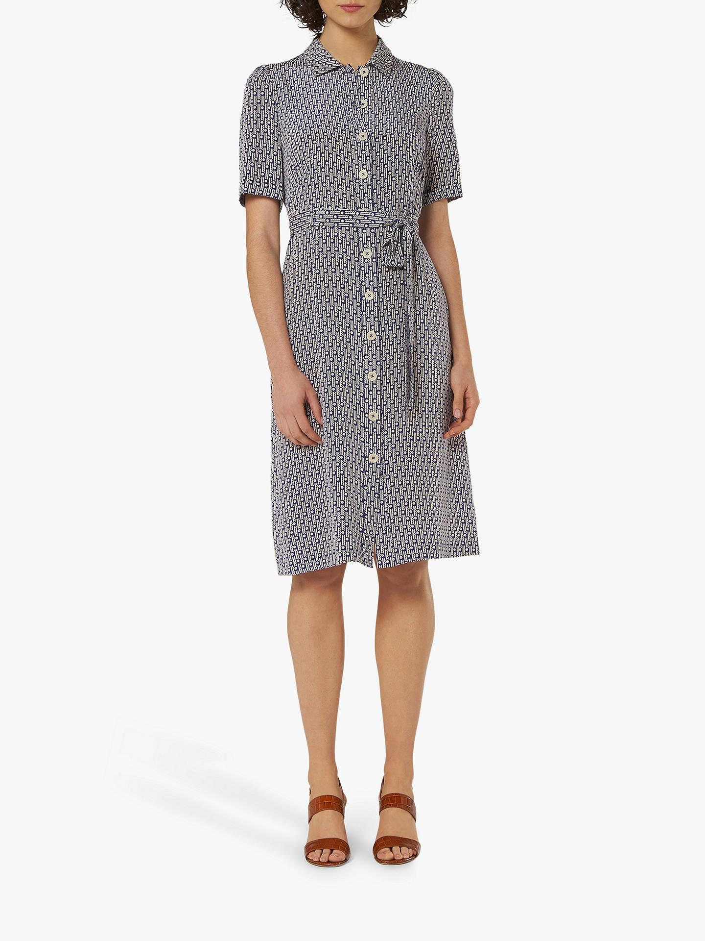 8c5bab0437 L.K.Bennett Irenie Belted Silk Shirt Dress, Blue, Blue