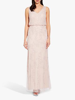 Adrianna Papell Blouson Beaded Dress, Shell