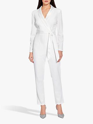 Adrianna Papell Crepe Wrap Jumpsuit, Ivory