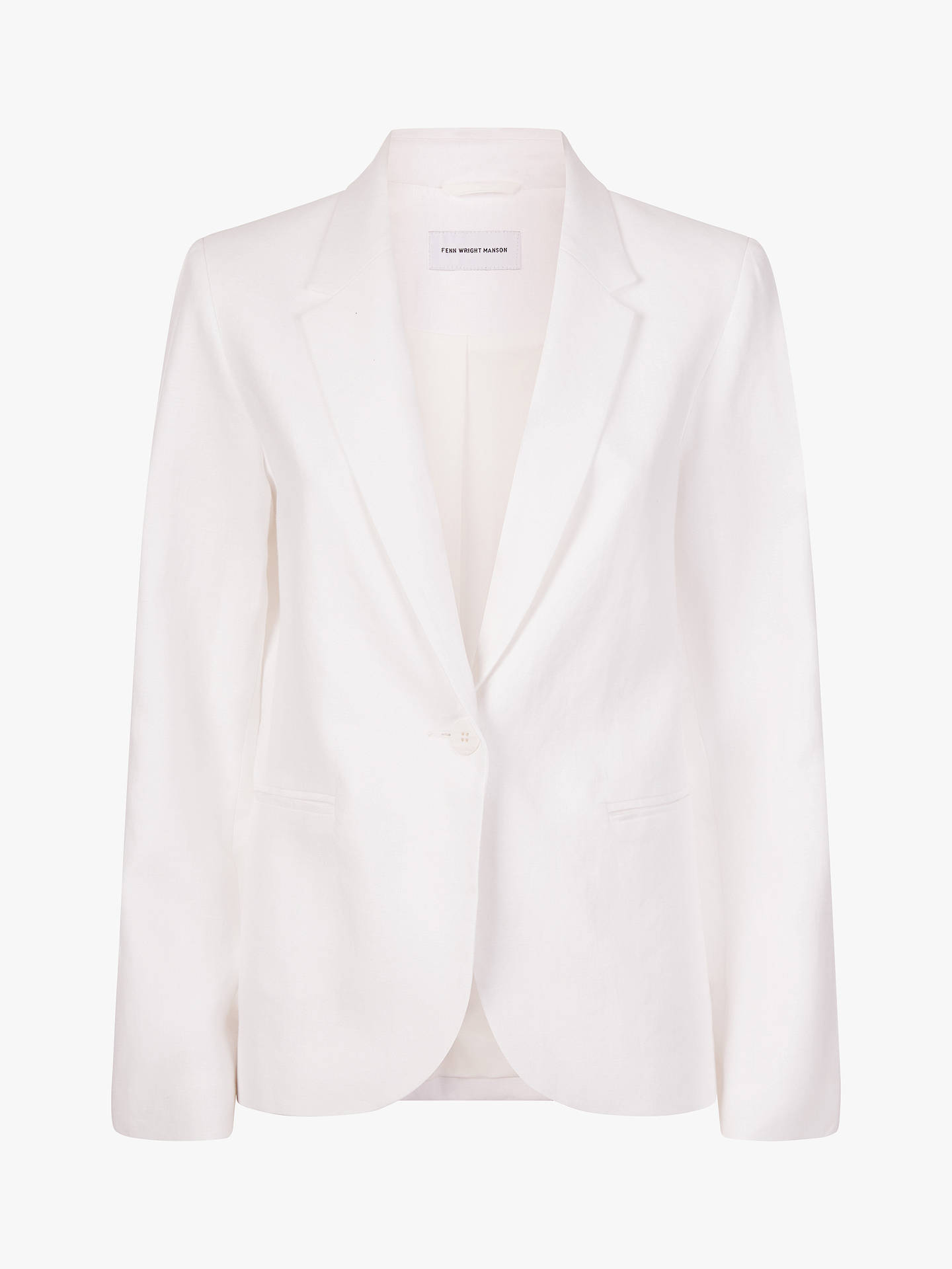 Buy Fenn Wright Manson Avani Linen Jacket, White, 12 Online at johnlewis.com