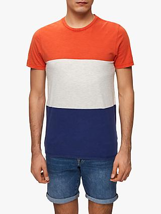 SELECTED HOMME O-Neck Colour Block T-Shirt