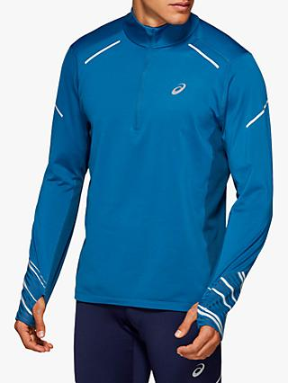 ASICS Lite-Show 2 1/2 Zip Winter Running Top, Mako Blue/Sapphire