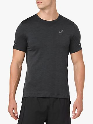 ASICS Seamless Short Sleeve Running T-Shirt, Dark Grey