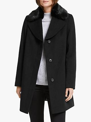 John Lewis & Partners Detachable Collar Swing Pea Coat