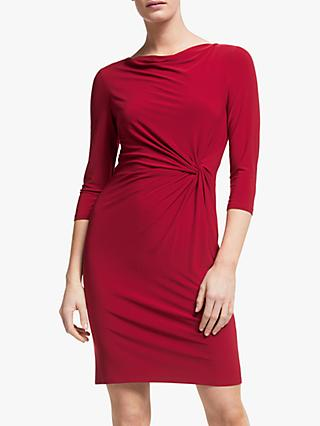 Lauren Ralph Lauren Trava Cowl Neck Dress, Vibrant Garnet