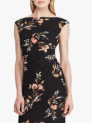 da287bd8d3dc2 Lauren Ralph Lauren Novellina Cap Sleeve Day Dress, Black/Multi