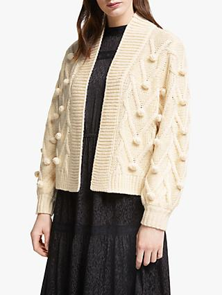 Somerset by Alice Temperley Bobble Knit Cardigan, Beige