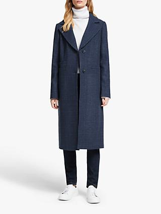 John Lewis & Partners Wool Rich Tailored Prince Of Wales Check Single Breasted Coat