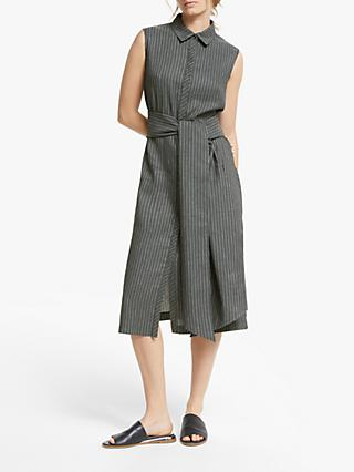 Modern Rarity Striped Shirt Dress, Black