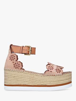 0e84dcfc279 See By Chloé Broderie Anglaise Wedge Sandals