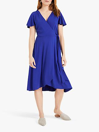 Phase Eight Iska Wrap Dress, Cobalt
