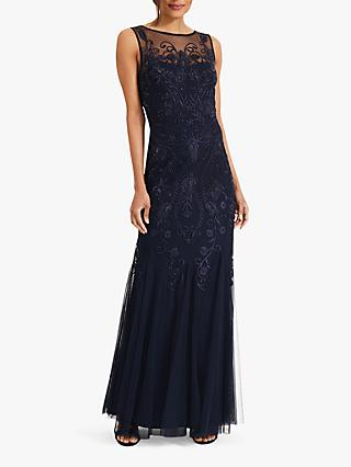 65798f538ee Phase Eight Cecilia Tulle Neckline Embroidered Maxi Dress