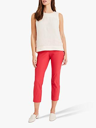 Phase Eight Hatty Cropped Trousers, Cherry