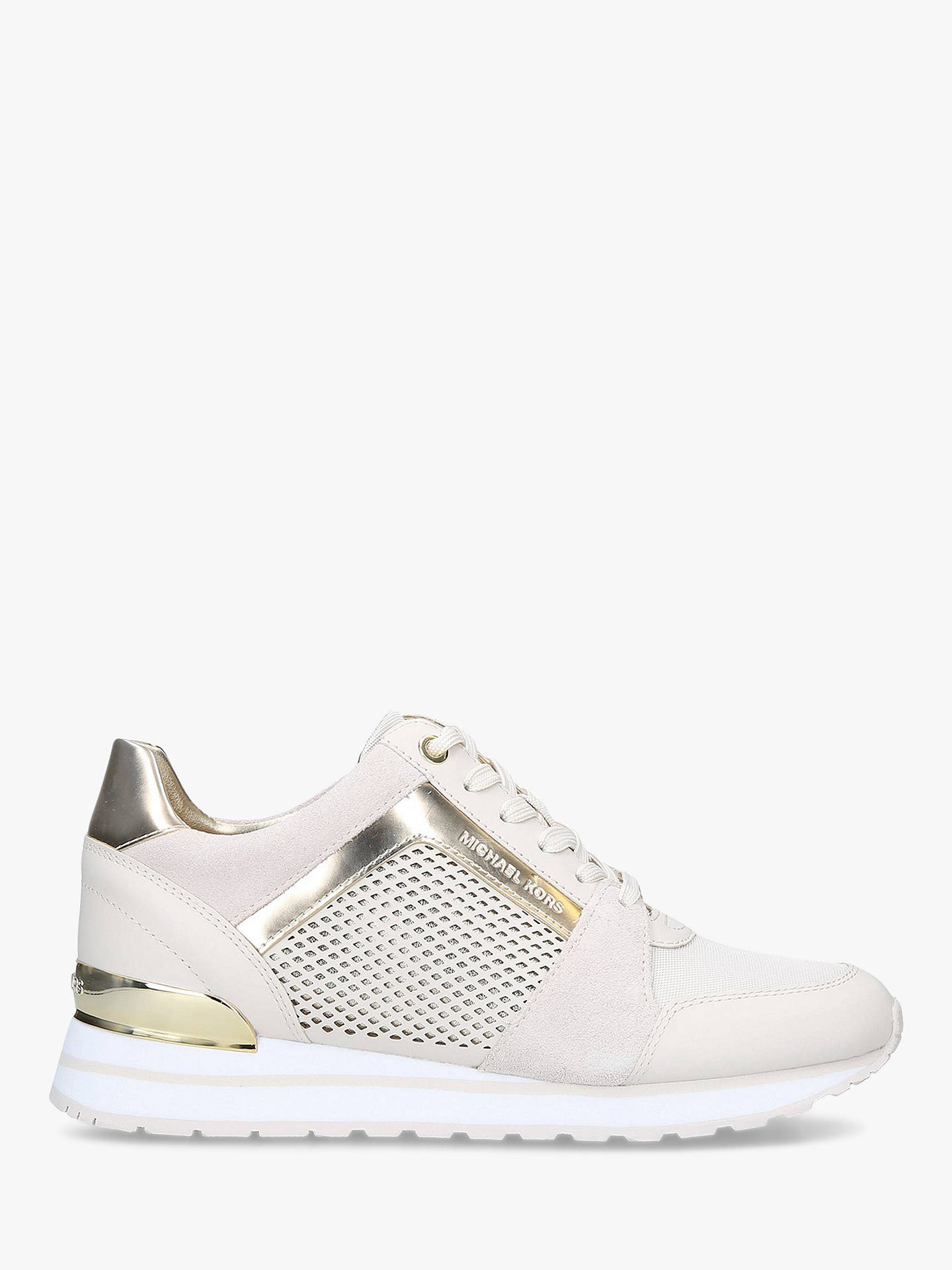 009ec64932c Buy MICHAEL Michael Kors Billie Lace Up Trainers, Natural Cream Leather, 3  Online at ...