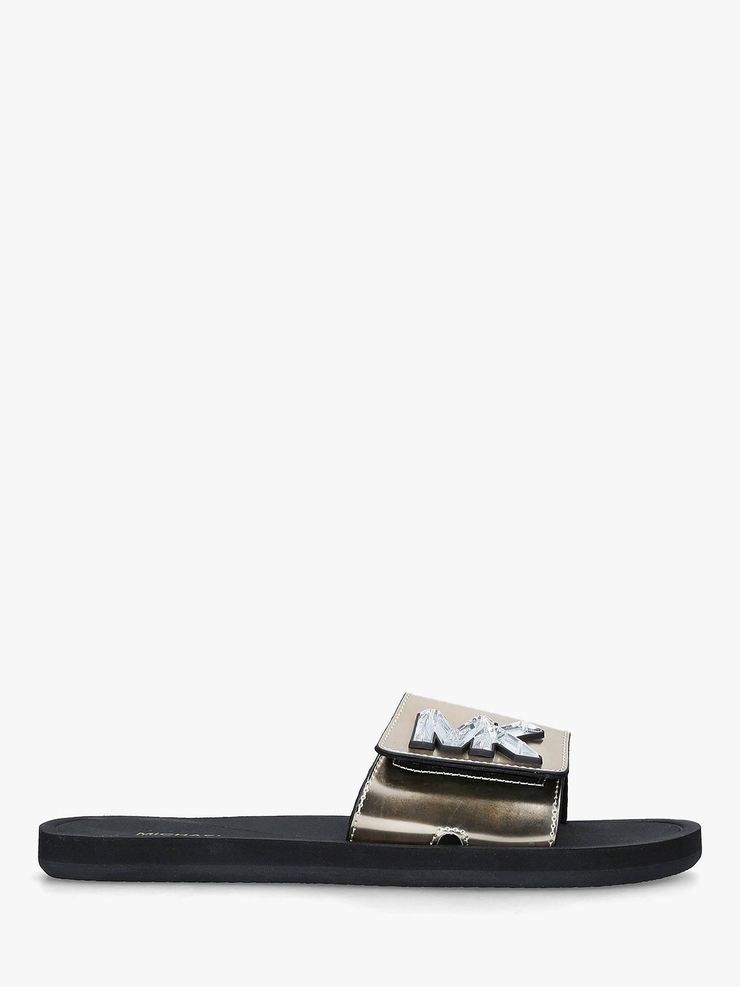 951148c7e6d84 MICHAEL Michael Kors Monogram Slide Sandals, Gold