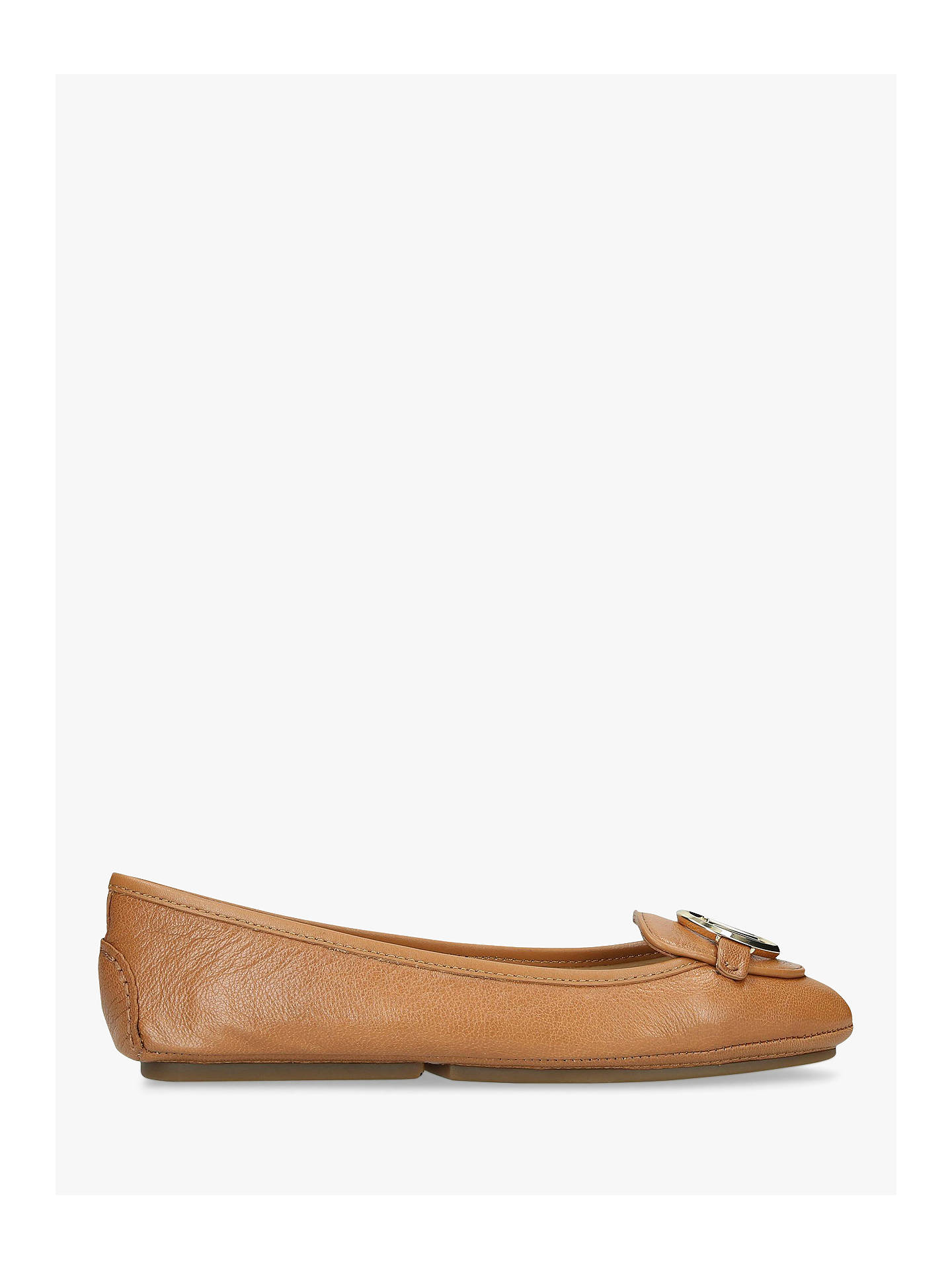 ad62ccdd2aa Buy MICHAEL Michael Kors Lillie Moccasins, Natural Taupe Leather, 5 Online  at johnlewis.