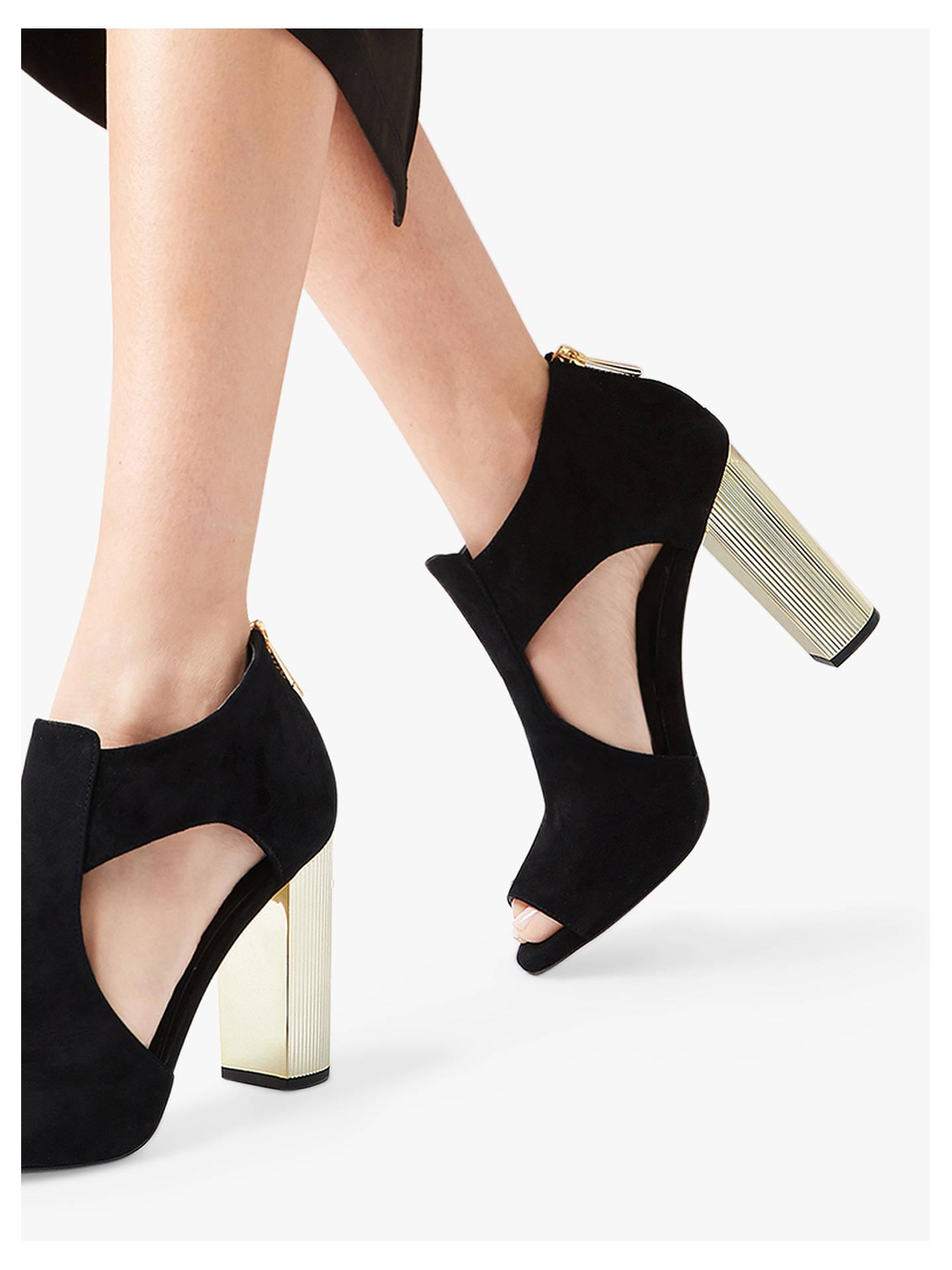 618f8edf4 ... Buy MICHAEL Michael Kors Paloma Block Heel Peep Toe Shoe Boots, Black  Suede, 3 ...